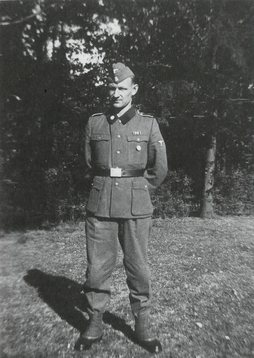 Werner Ventzki w mundurze Waffen-SS. Fot. arch. Jens-Juergen Ventzki /