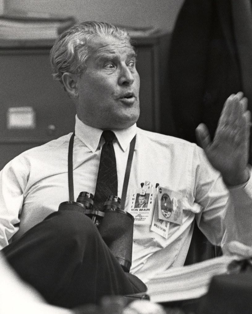 Wernher Von Braun w dniu startu misji Apollo 11 na Księżyc /NASA