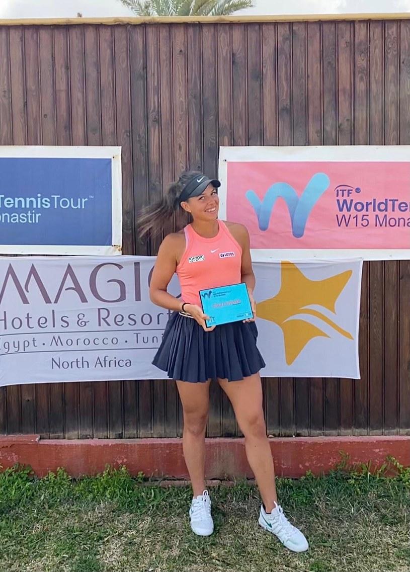 Weronika Falkowska po zwycięstwie w turnieju ITF w Monastyrze /archiwum prywatne