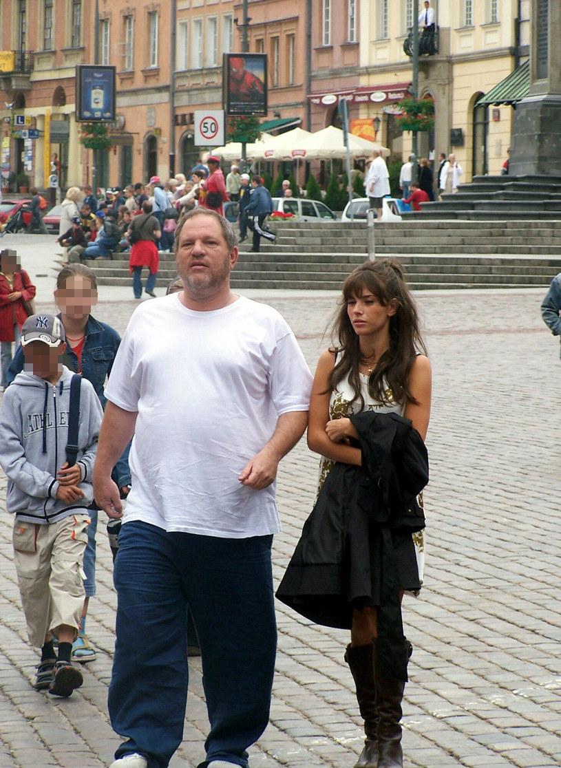 Weronika Rosati i Harvey Weinstein w Warszawie 2007 rok. fot. Super Express/EastNews