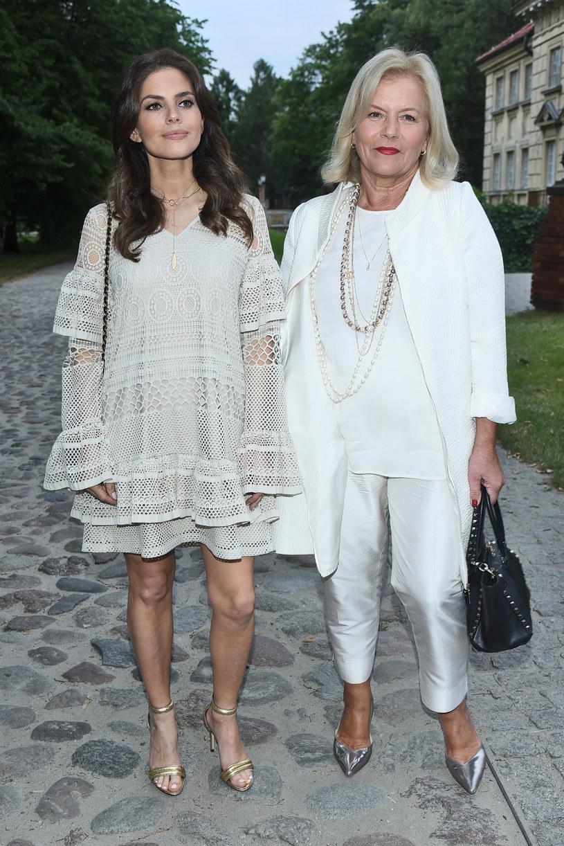 Weronika Rosati z mamą Teresą /Andras Szilagyi /MWMedia