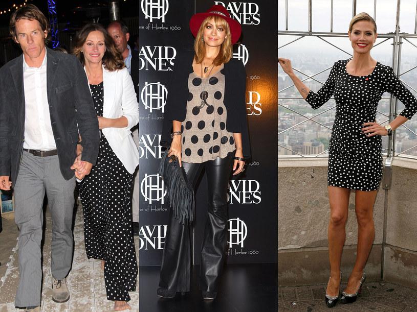 Wersja casualowa groszków: Julia Roberts, Nicole Richie i Heidi Klum /- /Getty Images