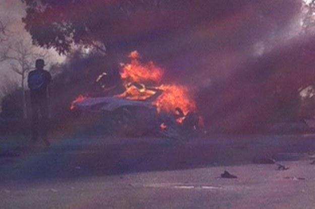 Wg Edyty Górniak samochód nie zaczął się palić od silnika / Fot: Action press /East News