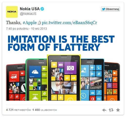 Wg. Nokii, nowe iPhony to kopia telefonów Lumia /materiały prasowe