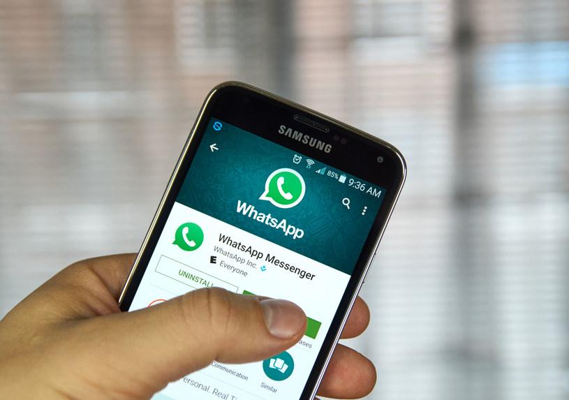 WhatsApp - przypomnijmy, że właścicielem tej aplikacji jest firma Facebook /123RF/PICSEL