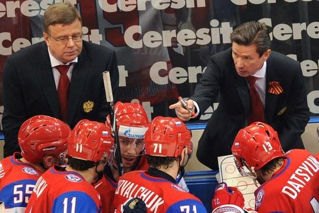 Wiaczesław Bykow (u góry z prawej) i Igor Zacharkin /AFP