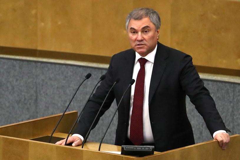 Wiaczesław Wołodin podczas sesji Dumy /Anrton Novoderezhkin/TASS /Agencja FORUM