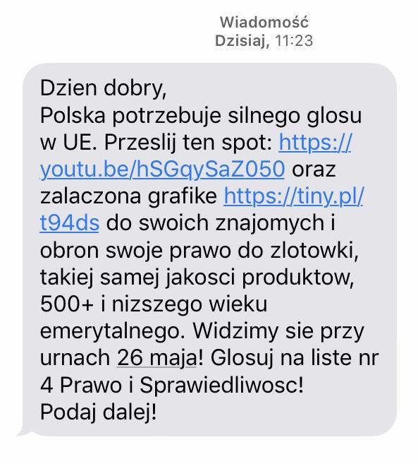 Wiadomość, którą otrzymał nasz reporter Krzysztof Kot /Krzysztof Kot /RMF FM