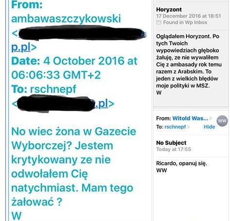 Wiadomości od Witolda Waszczykowskiego /facebook.com