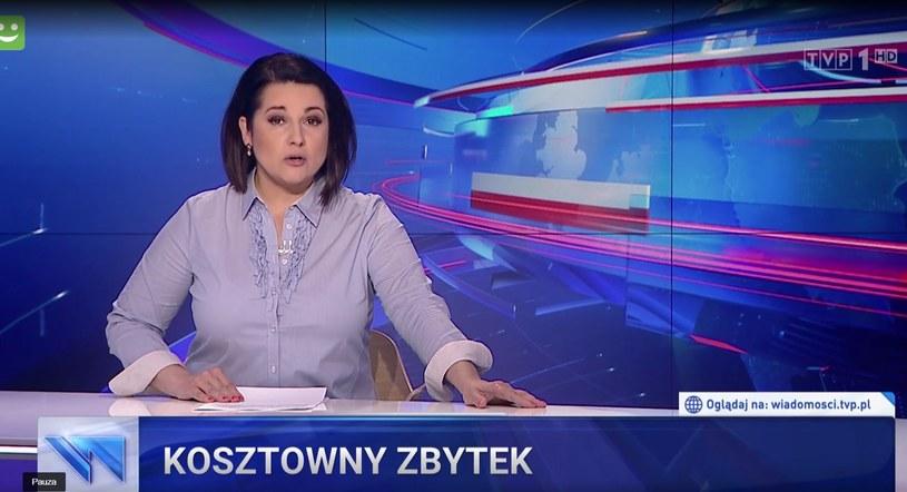 """""""Wiadomości"""" uznały udział Wellman w projekcie za """"kosztowny zbytek"""" (Screen. wiadomosci.tvp.pl) /materiał zewnętrzny"""