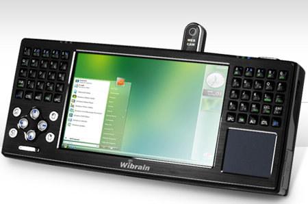 Wibrain B1 - komputer UMPC z pracującym systemem operacyjnym Windows Vista /materiały prasowe