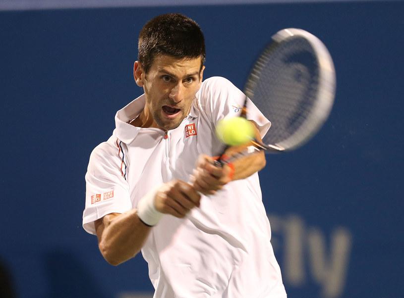Wicelider światowego rankingu tenisistów Serb Novak Djokovic /AFP