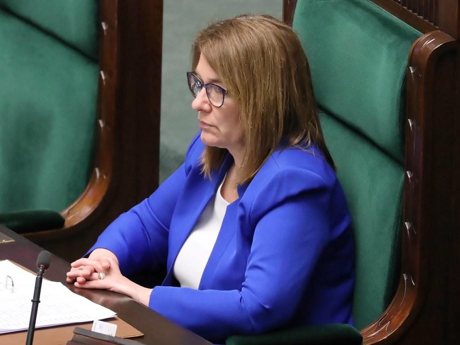 Wicemarszałek Sejmu Beata Mazurek na sali obrad / Tomasz Gzell    /PAP
