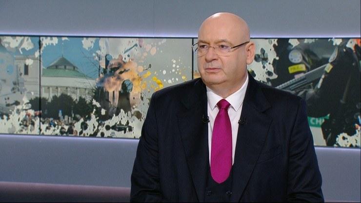 "Wicemarszałek Sejmu Piotr Zgorzelski w ""Graffiti"" Polsat News /Polsat News"