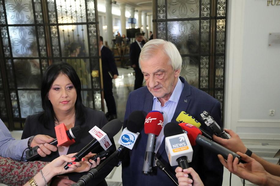 Wicemarszałek Sejmu Ryszard Terlecki i rzecznik PiS Anita Czerwińska /Wojciech Olkuśnik /PAP