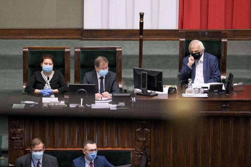 Wicemarszałek Sejmu Ryszard Terlecki na sali obrad /Mateusz Marek /PAP