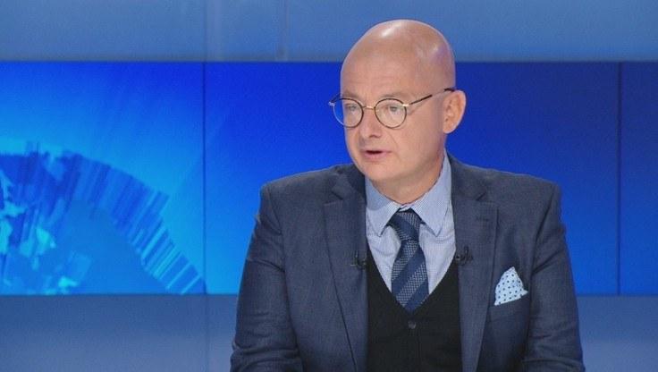 """Wicemarszałek Senatu Michał Kamiński w programie """"Gość Wydarzeń"""" /Polsat News"""