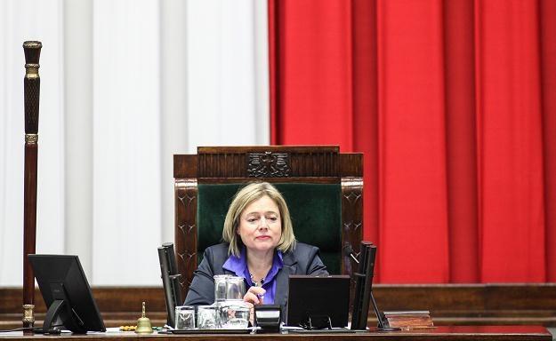 Wicemarszałek Wanda Nowicka w czasie posiedzenia Sejmu. Fot. Jakub Kamiński /PAP