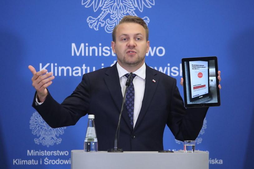 Wiceminister klimatu i środowiska Jacek Ozdoba /PAP