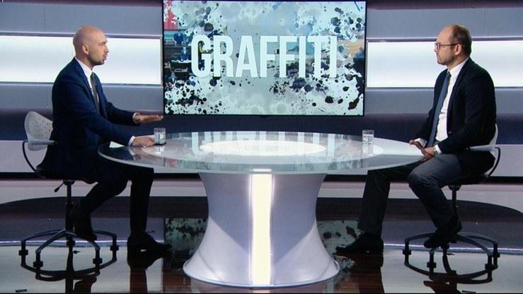 """Wiceminister spraw zagranicznych Marcin Przydacz gościem """"Graffiti"""" /Polsat News"""
