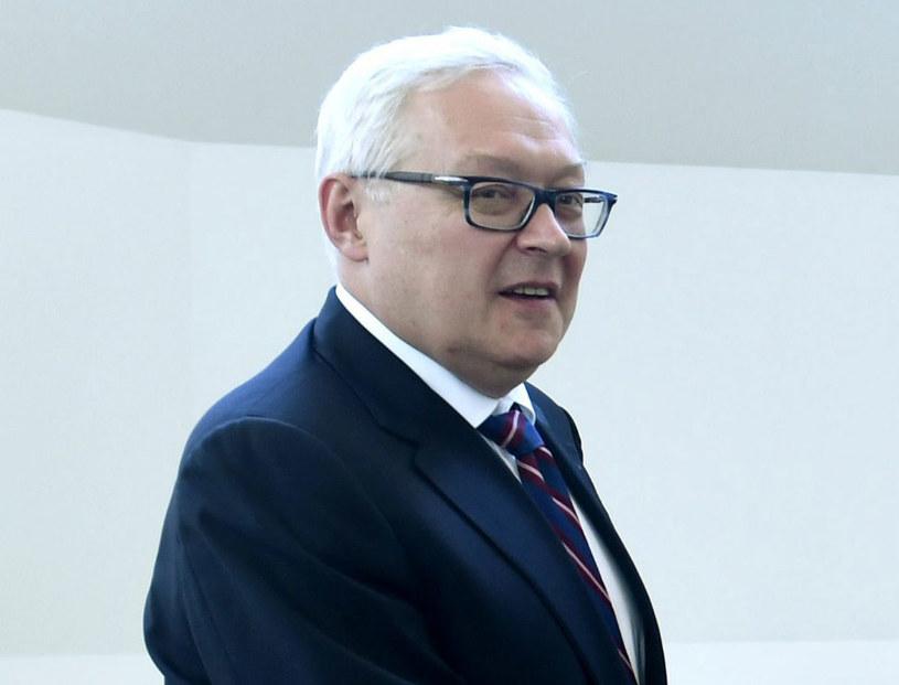 Wiceminister spraw zagranicznych Rosji Siergiej Riabkow /Martti Kainulainen /AFP