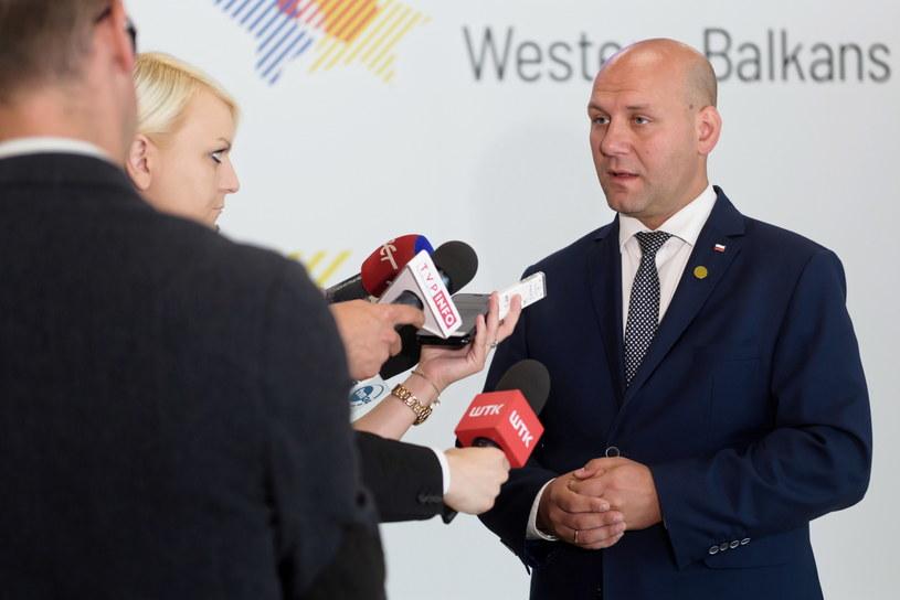 Wiceminister spraw zagranicznych Szymon Szynkowski vel Sęk /Jakub Kaczmarczyk /PAP