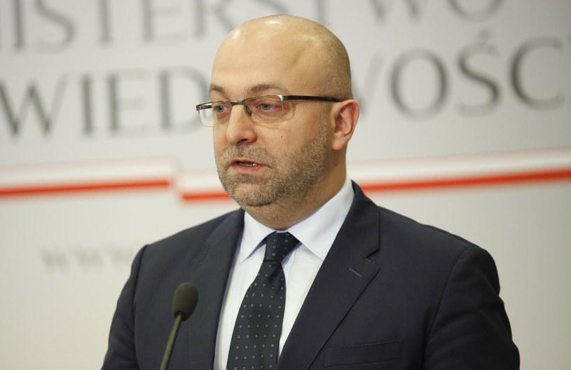 Wiceminister sprawiedliwości Łukasz Piebiak /Stefan Maszewski /Reporter