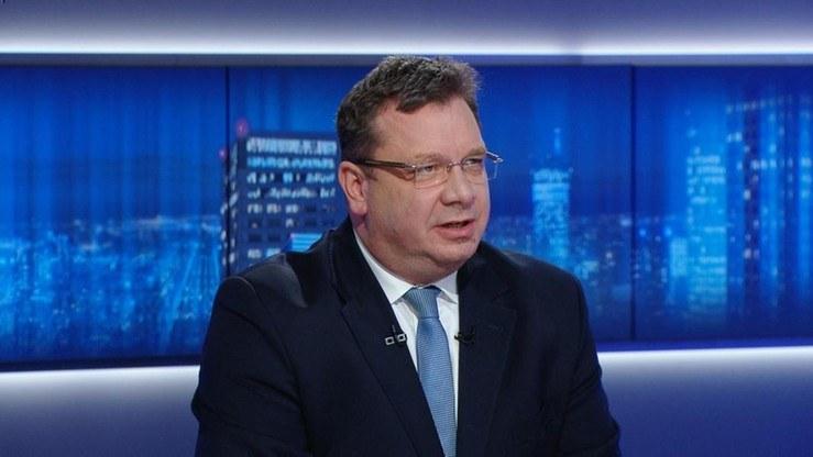 Wiceminister sprawiedliwości Michał Wójcik /Polsat News