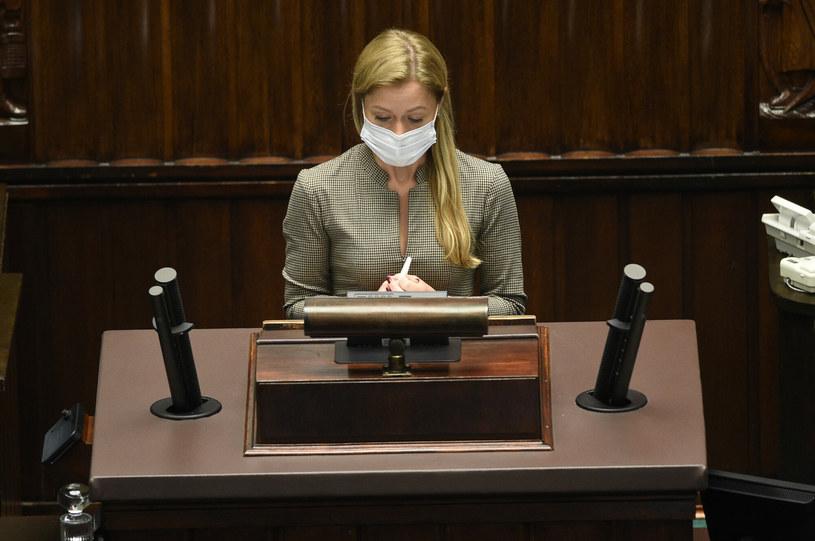 Wiceminister zdrowia Anna Goławska w Sejmie /Zbyszek Kaczmarek /Reporter