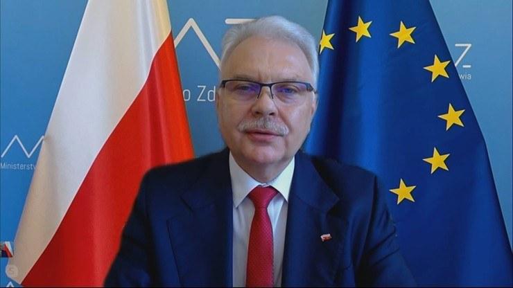 Wiceminister zdrowia Waldemar Kraska /Polsat News