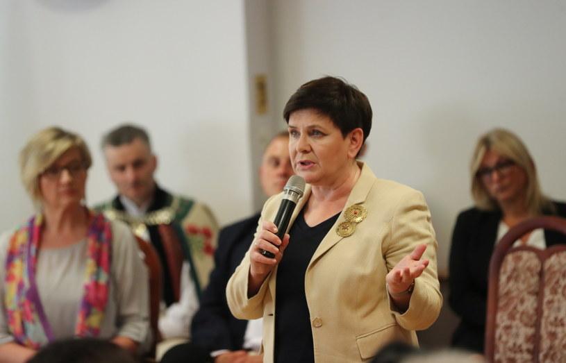 Wicepremier Beata Szydło podczas spotkania z mieszkańcami w Urzędzie Miasta w Zakopanem / Grzegorz Momot    /PAP