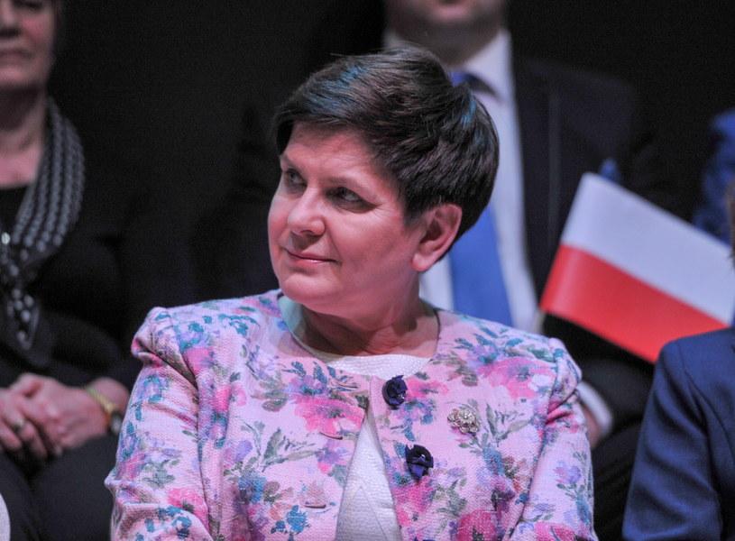 Wicepremier Beata Szydło podczas spotkania z mieszkańcami Wieliczki /PAP
