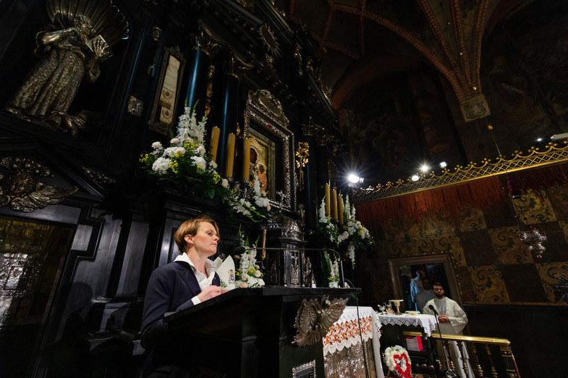Wicepremier i minister rozwoju Jadwiga Emilewicz podczas wystąpienia w kaplicy Matki Bożej na Jasnej Górze /East News