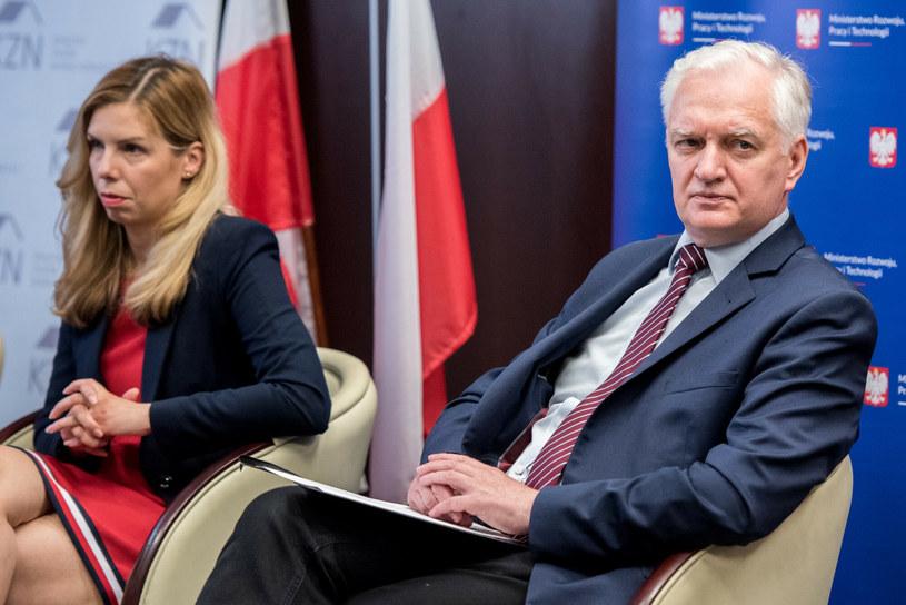 Wicepremier Jarosław Gowin i odwołana wiceminister Anna Kornecka /Lukasz Piecyk/REPORTER /East News