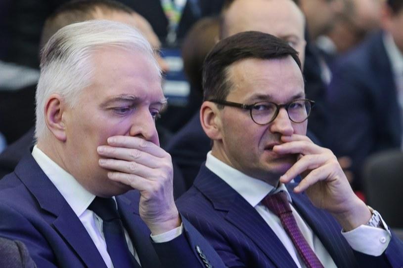 Wicepremier Jarosław Gowin i premier Mateusz Morawiecki /Dominik Gajda /East News