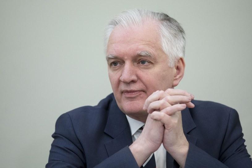 Wicepremier Jarosław Gowin /fot. Andrzej Iwanczuk /Reporter