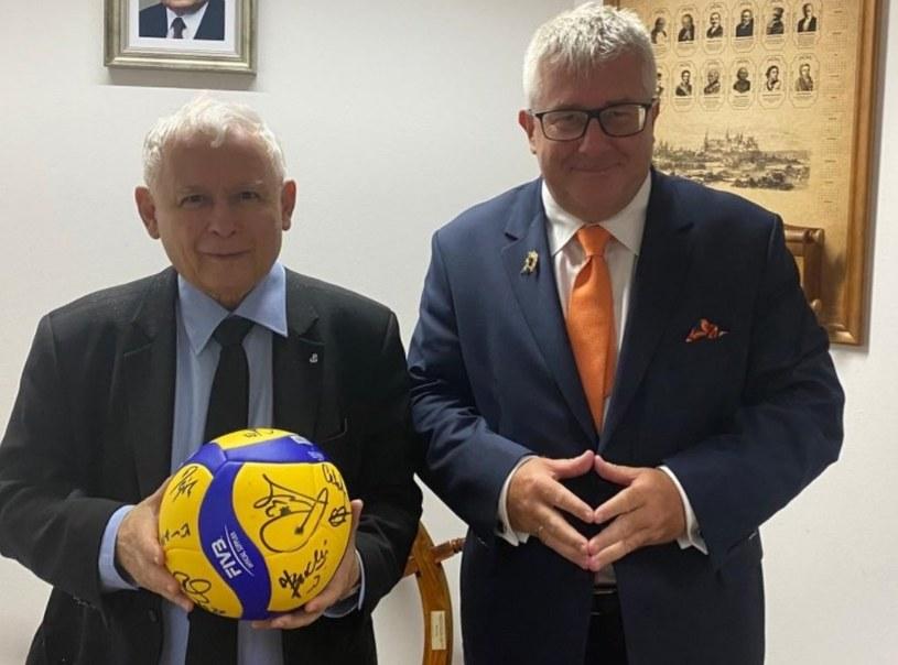 Wicepremier Jarosław Kaczyński i europoseł Ryszard Czarnecki /Ryszard Czarnecki /Twitter