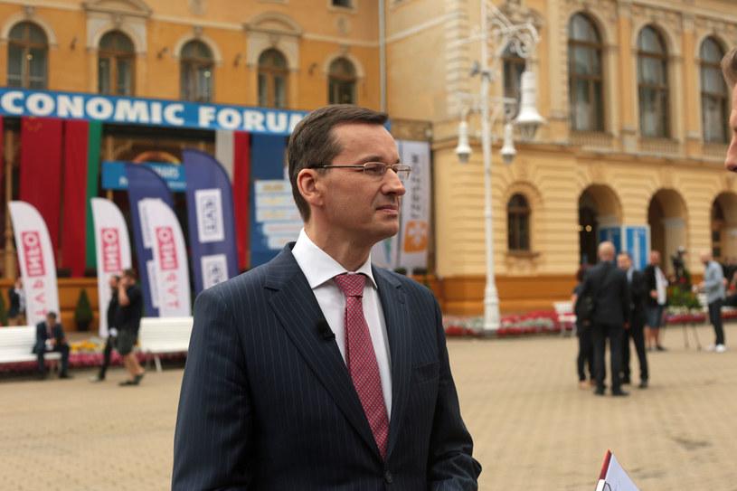 Wicepremier Mateusz Morawiecki dzisiaj w Krynicy /INTERIA.PL