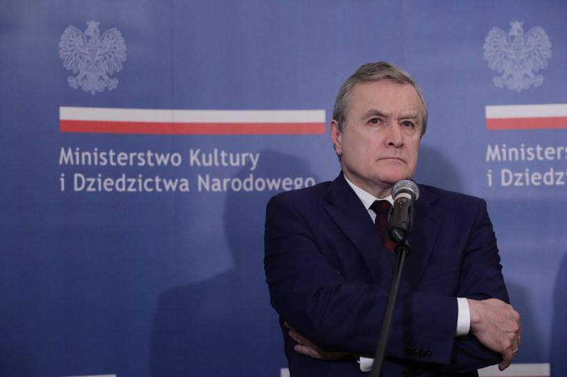 Wicepremier, minister kultury i dziedzictwa narodowego Piotr Gliński /Tomasz Gzell /PAP