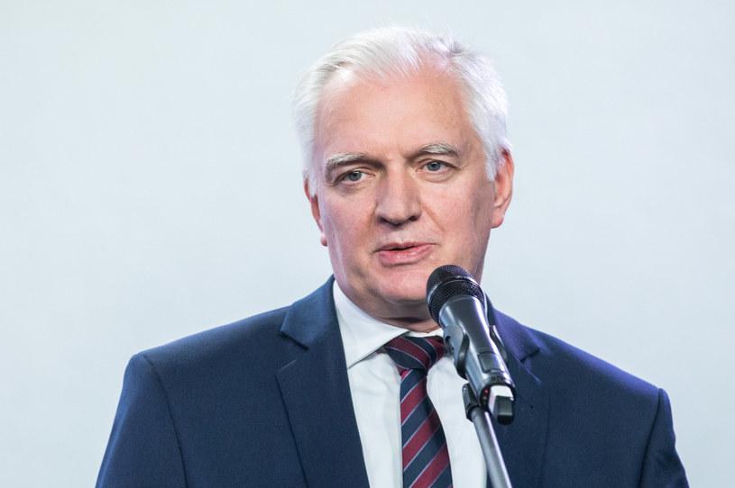 Wicepremier, minister rozwoju i pracy Jarosław Gowin /fot. Andrzej Iwanczuk /Reporter