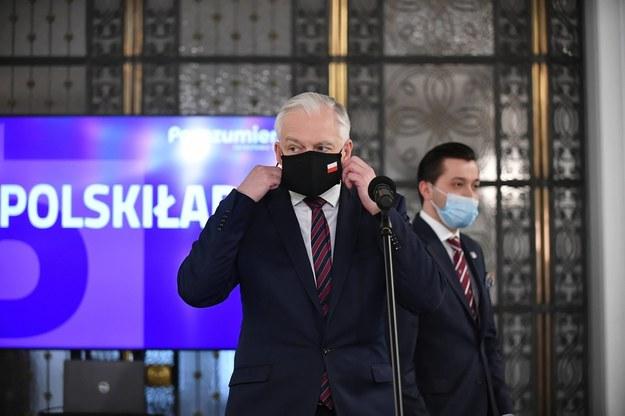 Wicepremier, minister rozwoju, pracy i technologii Jarosław Gowin / Marcin Obara  /PAP