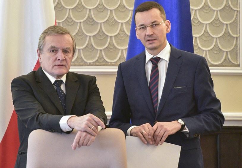 Wicepremierzy Piotr Gliński i Mateusz Morawiecki /Jacek Dominski/REPORTER /East News