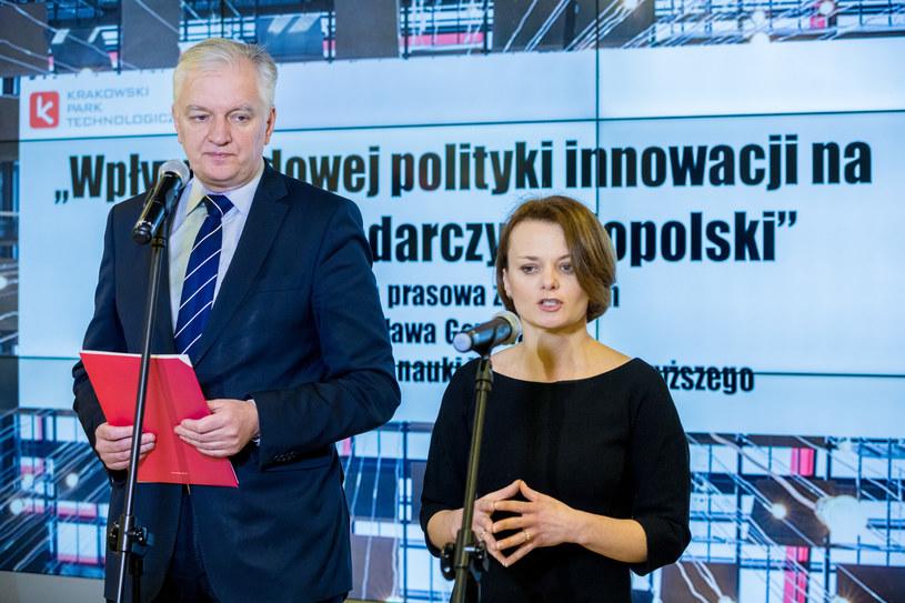 Wiceprezes Porozumienia w towarzystwie szefa partii Jarosława Gowina /Anna Kaczmarz /East News