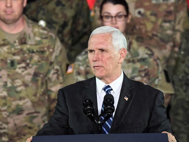 Wiceprezydent USA Mike Pence / Radek Pietruszka   /PAP
