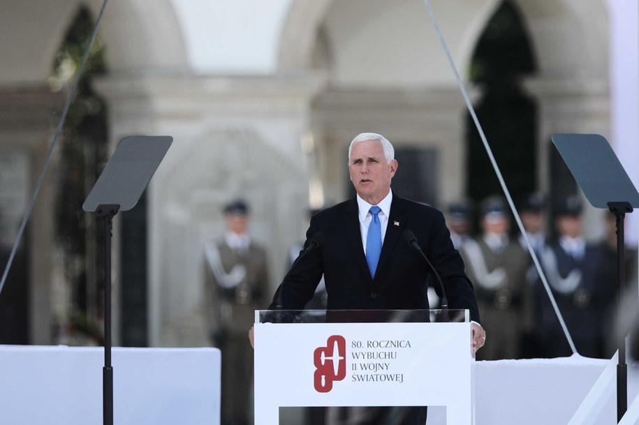Wiceprezydent USA Mike Pence /Leszek Szymański /PAP
