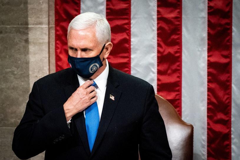 Wiceprezydent USA Mike Pence /Erin Schaff / POOL /PAP/EPA