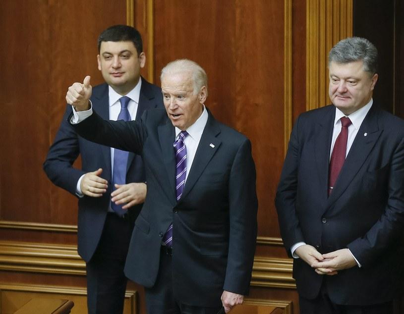 Wiceprezydent USA podczas wizyty w ukraińskim parlamencie /SERGEY DOLZHENKO /PAP/EPA