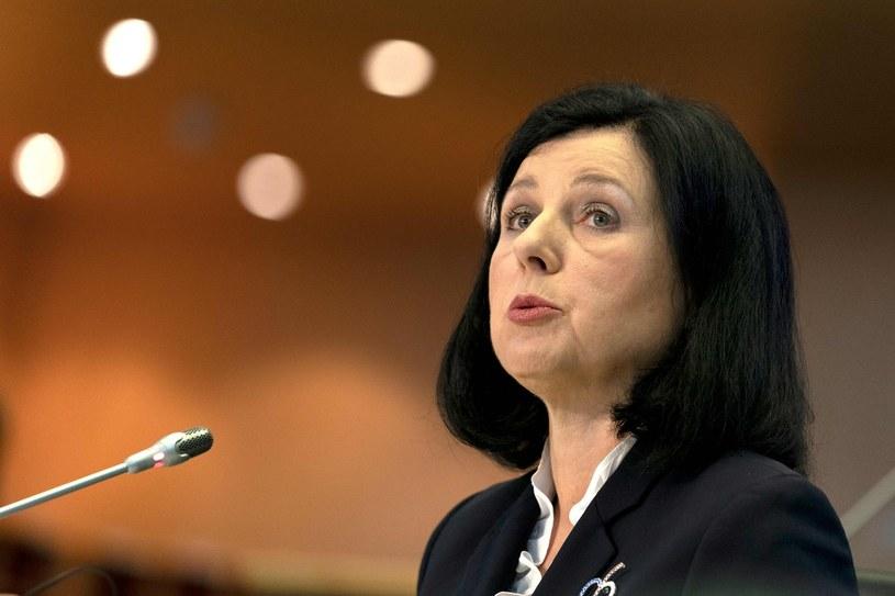 Wiceprzewodnicząca KE Vera Jourova /KENZO TRIBOUILLARD /AFP