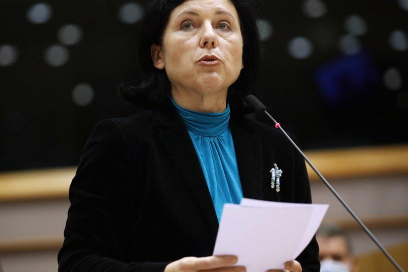Wiceprzewodnicząca Komisji Europejskiej Vera Jourova /Francisco Seco /PAP/EPA