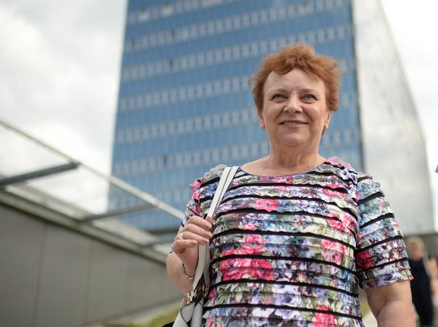 Wiceprzewodnicząca OZZPiP Longina Kaczmarska /Jacek Turczyk /PAP